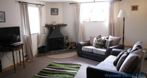 Higher Shippen - lounge with wood burner