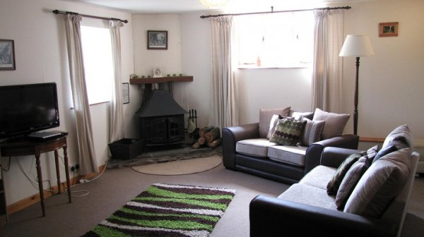 Higher Shippen Lounge, with wood burner, freeview TV, DVD player.