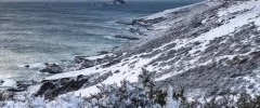 Cliffs after Beast from the East 2017